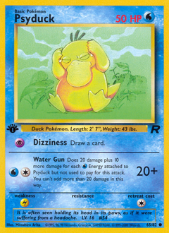 Psyduck card for Team Rocket