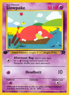 Slowpoke card for Team Rocket