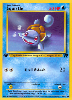 Squirtle card for Team Rocket