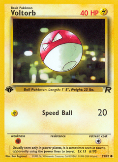 Voltorb card for Team Rocket