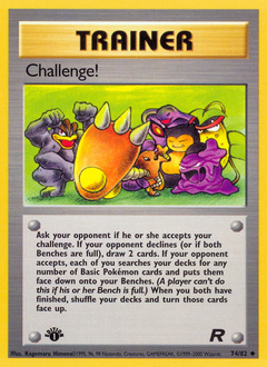 Challenge! card for Team Rocket