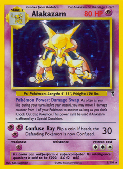 Alakazam card for Legendary Collection