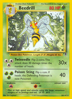 Beedrill card for Legendary Collection