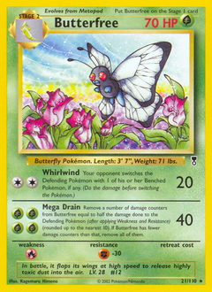 Butterfree card for Legendary Collection