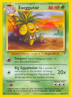 Exeggutor card for Legendary Collection