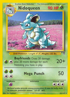 Nidoqueen card for Legendary Collection
