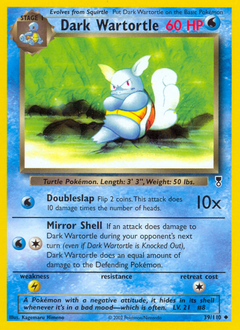 Dark Wartortle card for Legendary Collection