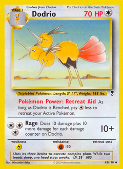 Dodrio card for Legendary Collection