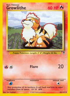 Growlithe card for Legendary Collection