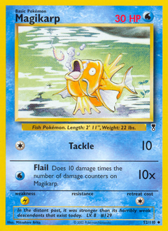 Magikarp card for Legendary Collection