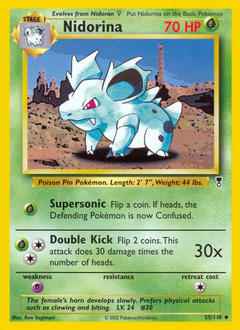 Nidorina card for Legendary Collection