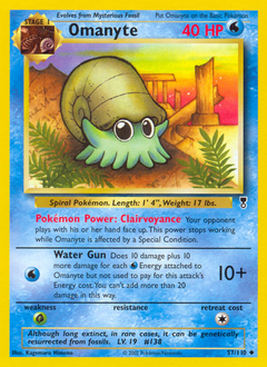 Omanyte card for Legendary Collection