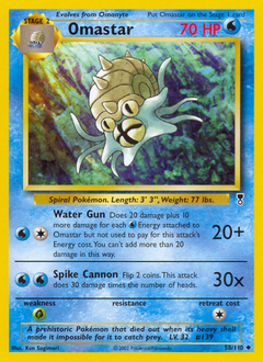 Omastar card for Legendary Collection