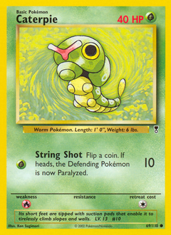 Caterpie card for Legendary Collection
