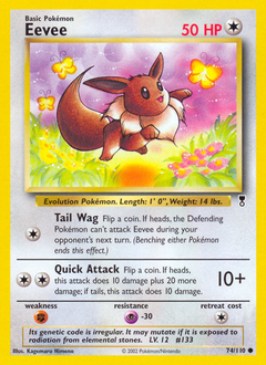 Eevee card for Legendary Collection