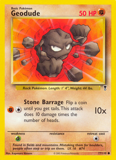 Geodude card for Legendary Collection