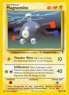 Magnemite card for Legendary Collection