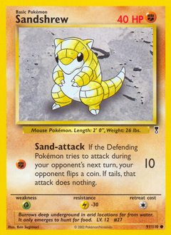 Sandshrew card for Legendary Collection
