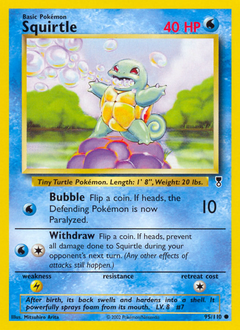 Squirtle card for Legendary Collection
