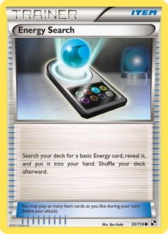 Energy Search card for Black & White