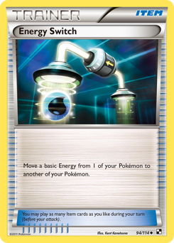Energy Switch card for Black & White