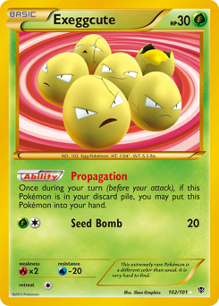Exeggcute card for Plasma Blast
