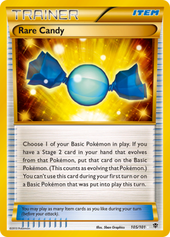 Rare Candy card for Plasma Blast