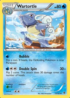Wartortle card for Plasma Blast