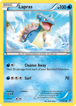 Lapras card for Plasma Blast