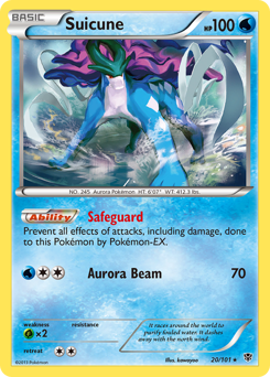 Suicune card for Plasma Blast