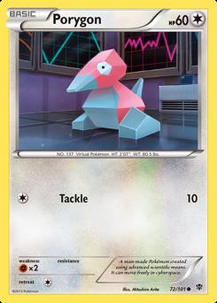 Porygon card for Plasma Blast