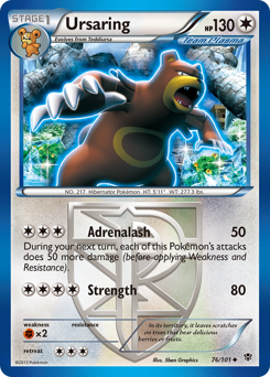 Ursaring card for Plasma Blast