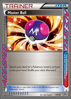 Master Ball card for Plasma Blast