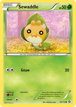 Sewaddle card for Legendary Treasures