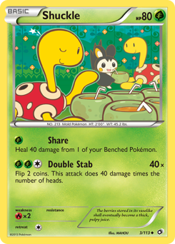 Shuckle card for Legendary Treasures