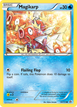 Magikarp card for Legendary Treasures