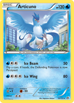Articuno card for Legendary Treasures