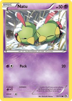 Natu card for Legendary Treasures