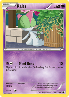 Ralts card for Legendary Treasures