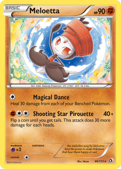 Meloetta card for Legendary Treasures