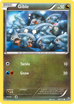 Gible card for Legendary Treasures