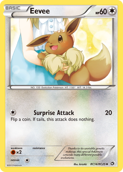 Eevee card for Legendary Treasures
