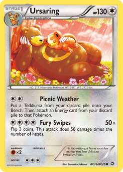 Ursaring card for Legendary Treasures