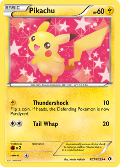 Pikachu card for Legendary Treasures