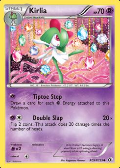 Kirlia card for Legendary Treasures