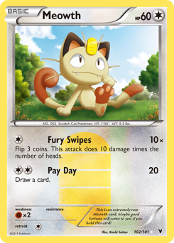 Meowth card for Noble Victories
