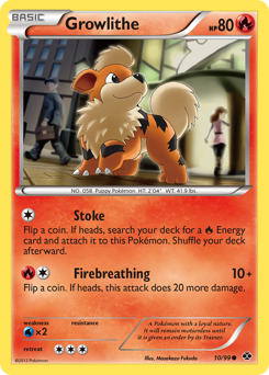 Growlithe card for Next Destinies