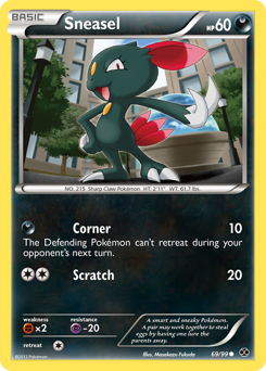 Sneasel card for Next Destinies