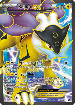 Raikou-EX card for Dark Explorers