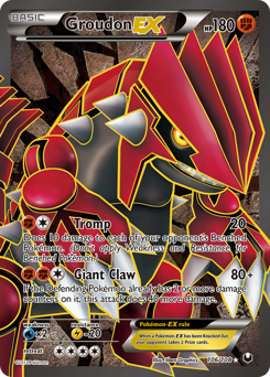 Groudon-EX card for Dark Explorers